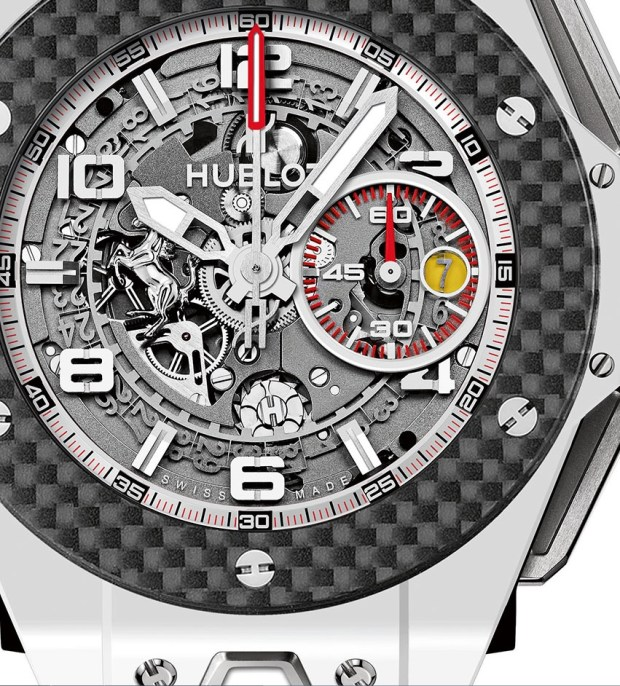 Hublot-Big-Bang-Ferrari-White-Ceramic-Carbon-dial-detail-Perpetuelle