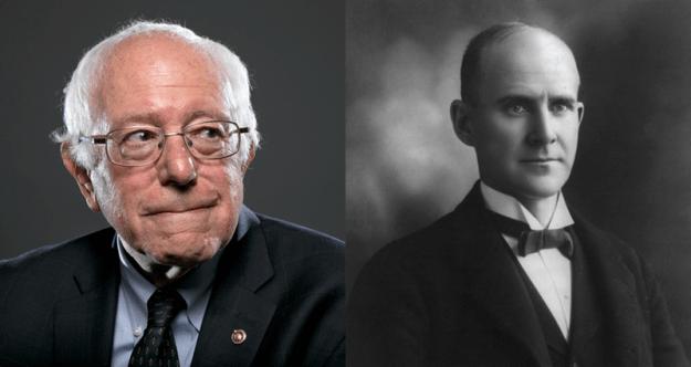 Bernie Sanders and Eugene V. Debs
