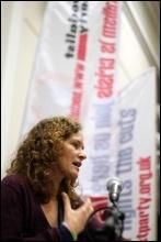 Socialism 2012: Sunday Rally: Hannah Sell, Socialist Party , photo Senan