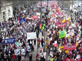 TUC demo 26 March, photo by Peter Knight