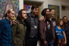 American Circumcision filmmaker Brendon Marotta with audience members after the screening. (Photo by Alexis Wood)