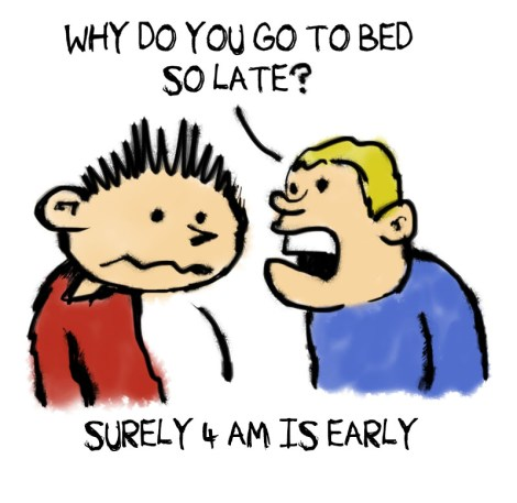go bed 4am sleep