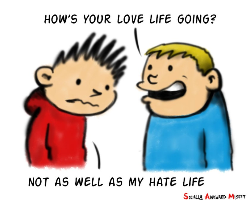 valentines love hate meme cartoon