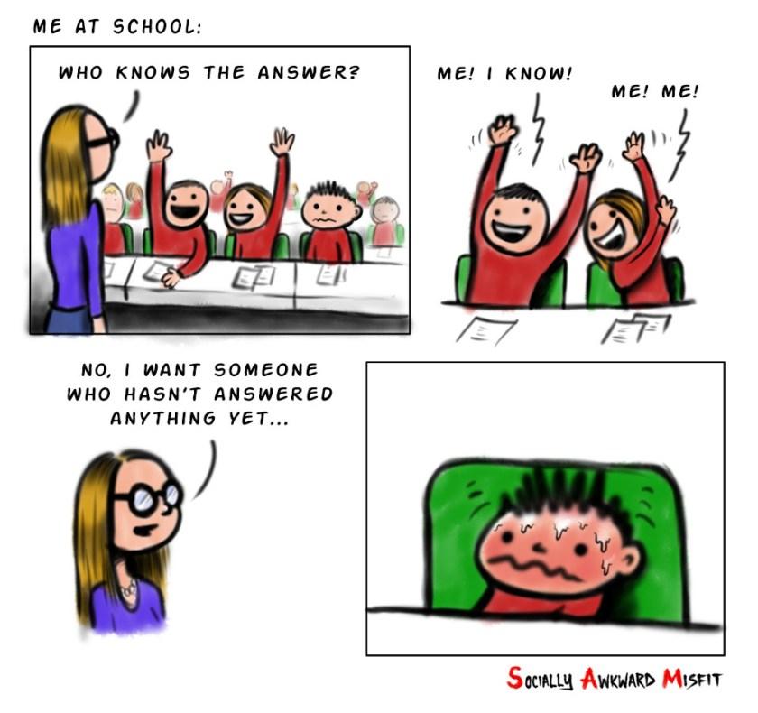 question in class cartoon comic meme