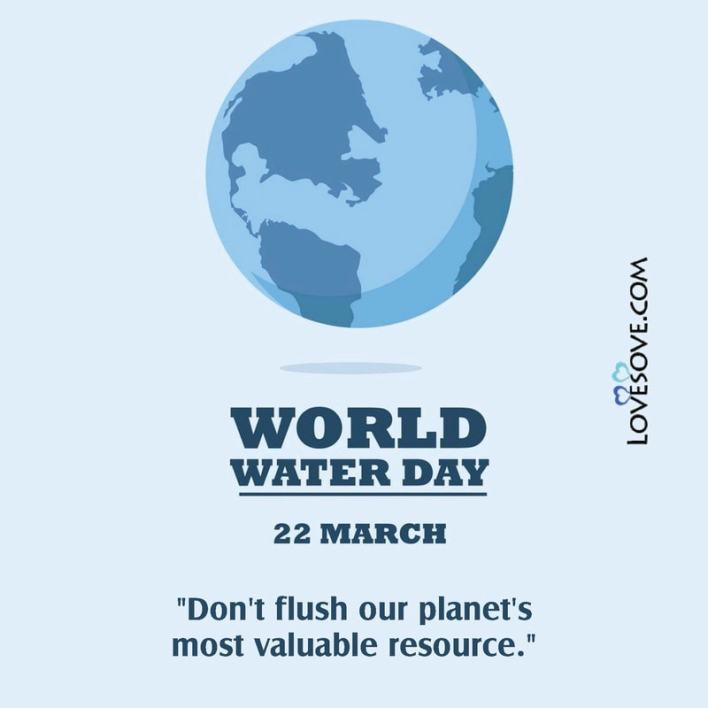 World Water Day Quotes Slogans Status Lovesove - scoailly keeda
