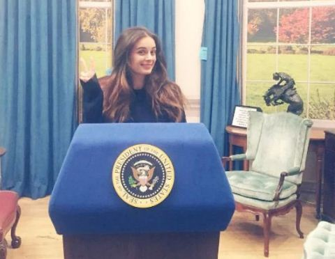 Evelyn Sharma at the White House