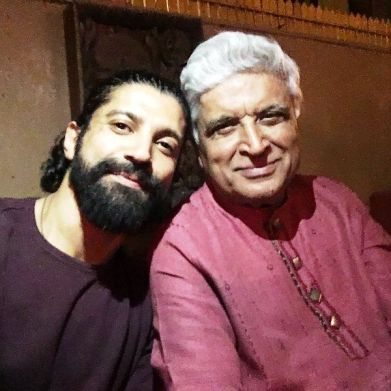 Farhan Akhtar with His Father- Javed Akhtar