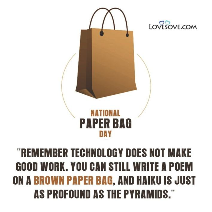 National Paper Bag Day Status, National Paper Bag Day Pics, National Paper Bag Day Images, National Paper Bag Day Quotes, National Paper Bag Day Hd Images, National Paper Bag Day Twitter, National Paper Bag Day Ideas, National Paper Bag Day Wishes, National Paper Bag Day Theme, National Paper Bag Day Messages