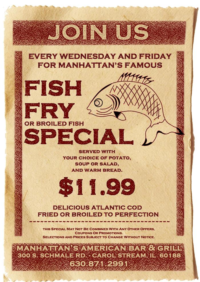 Tag fish fry manhattan 39 s american bar grill for Atlantic fish fry