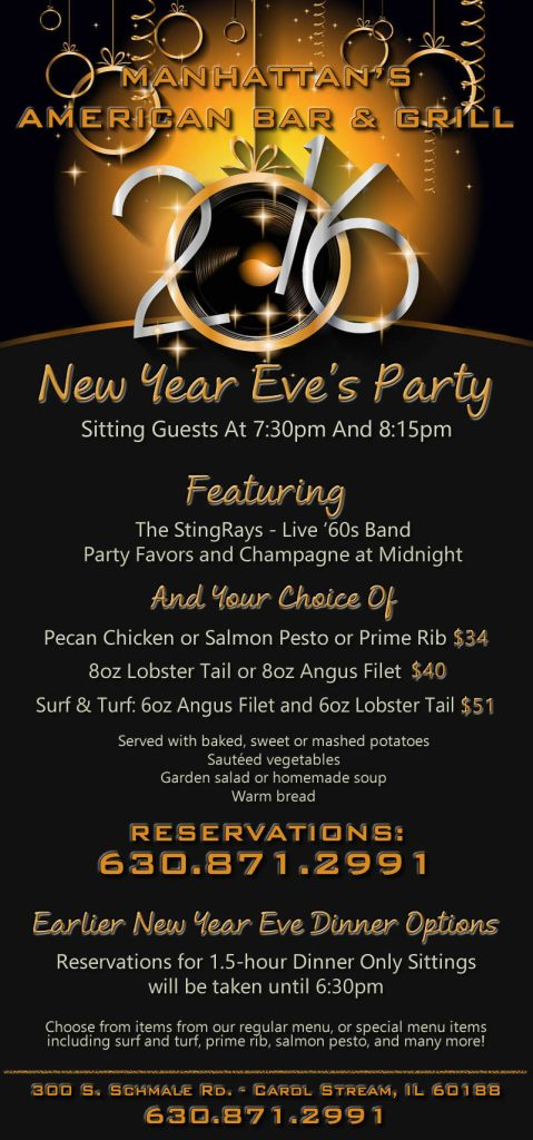 Ring In The New Year At Manhattan S Restaurant In Carol