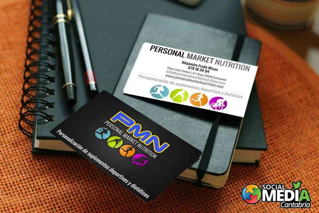 Personal-Market-Nutrition---Diseno-tarjetas-de-visita-Social-Media-Cantabria