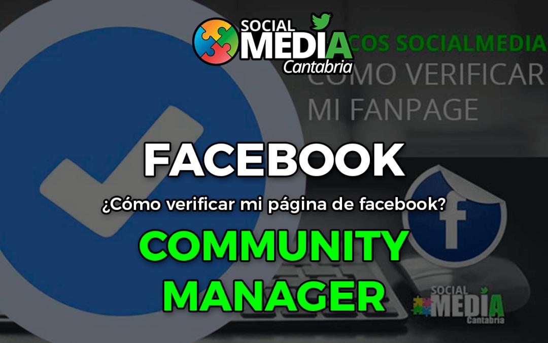 Como verificar mi página de Facebook