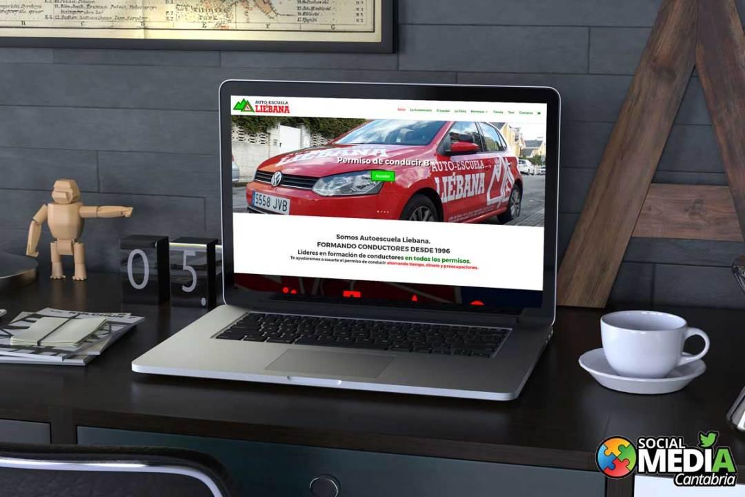 Diseño web responsive autoescuela liebana