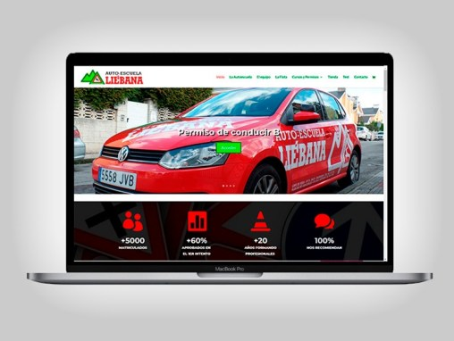 Web Autoescuela Liebana