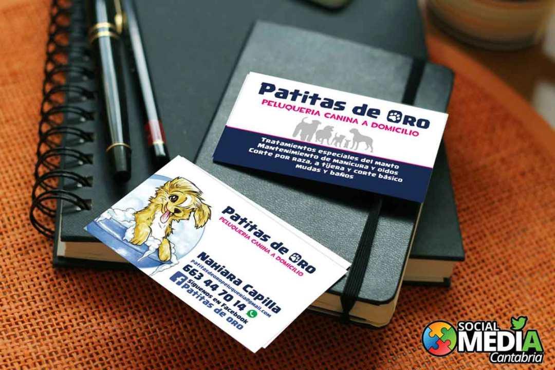 Patitas-de-oro---Diseno-tarjetas-de-visita-Social-Media-Cantabria