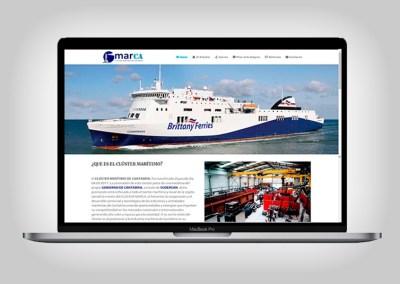 Web Clúster Marítimo de Cantabria