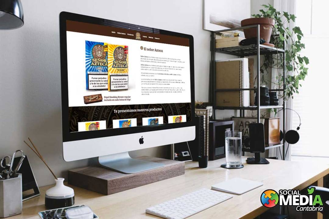 diseño web en cantabria señor azteca