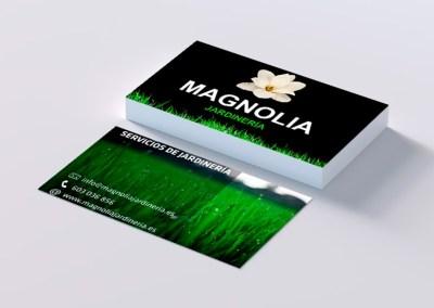 Tarjetas de Visita Magnolia Jardinería
