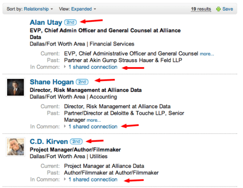 people search results on linkedin