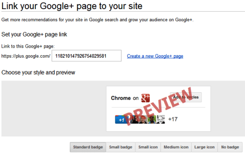 Google+ Pages - Direct Connect