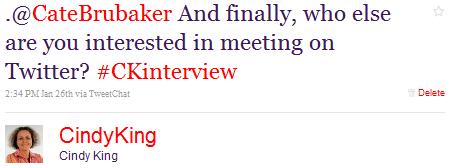 Twitter Interview Gespräch