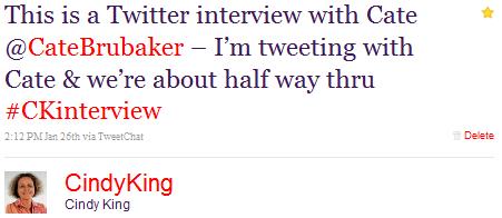 auf halbem Weg durch das Twitter-Interview