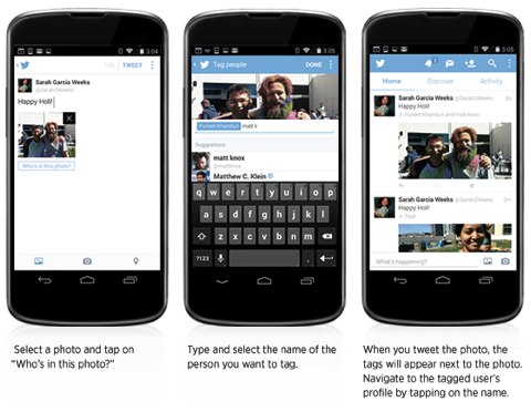 Twitter mobile Funktionen