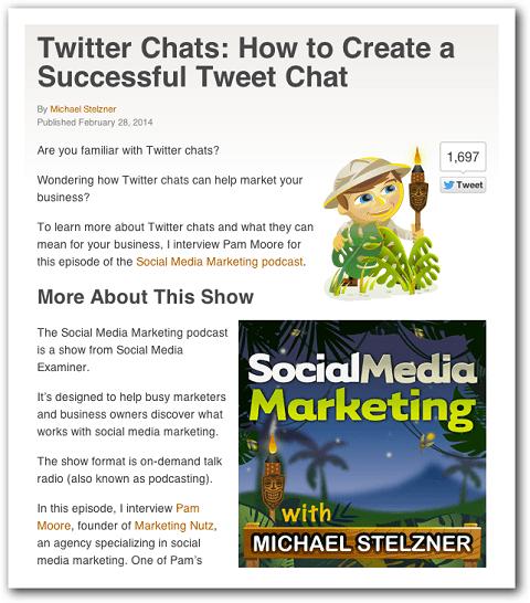 Beispiel eines Podcast-Shownotizen-Blogposts