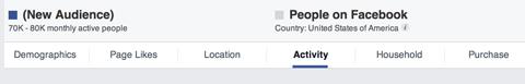 Facebook-Einblicke in das Publikum