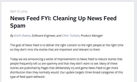 Facebook News Feed Artikel