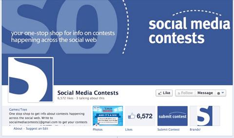 Facebook-Wettbewerbssammlungsseite
