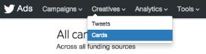 Kreative Twitter-Menüoptionen