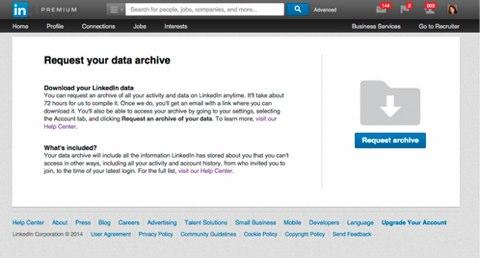 LinkedIn Datenarchiv