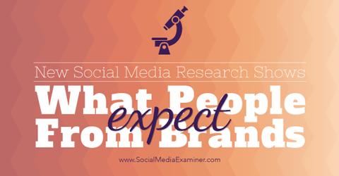 Recherche zu Kundenerwartungen für Marken in sozialen Medien