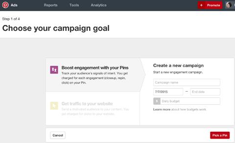 create a pinterest campaign