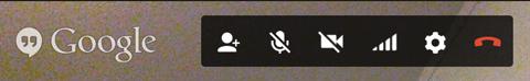 Bild des oberen Bedienfelds von Google + Hangouts