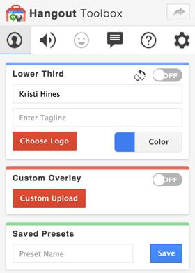 Optionen für die Google + Hangouts-Toolbox