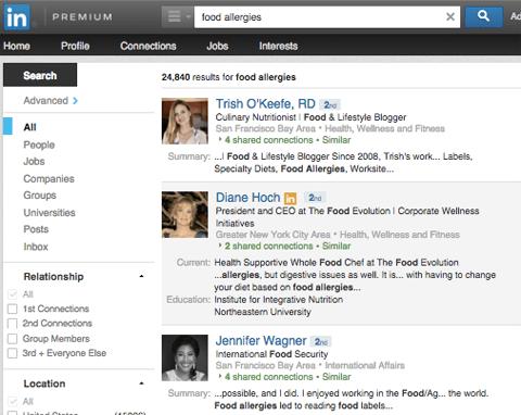 Linkedin Influencer Suche