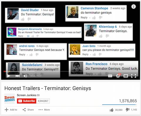 Screen Junkies Viewer Kommentare