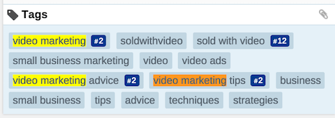 verkauft mit Video-Youtube-Schlüsselwörtern in Tags
