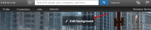 edit your linkedin profile background photo