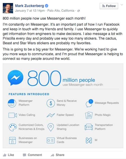 facebook messenger features