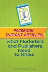 Facebook Instant-Artikel, wie man sich vorbereitet