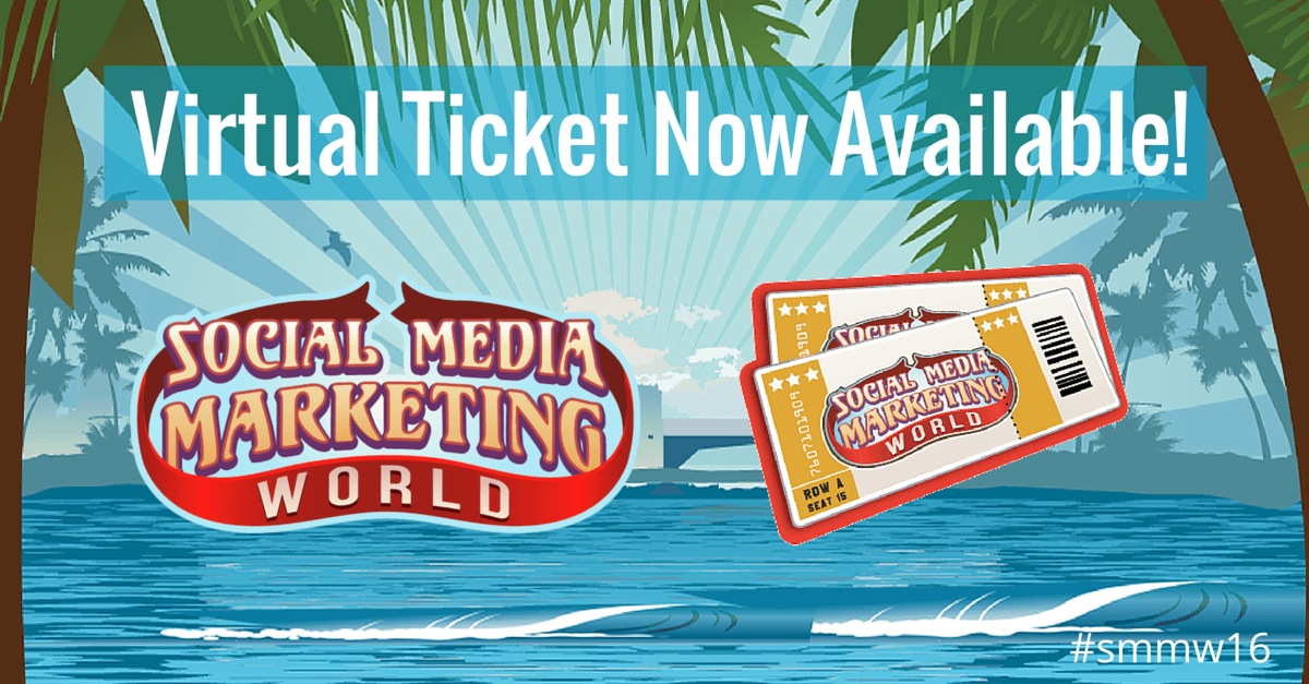 virtual ticket social media marketing world 2016