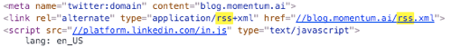 find rss feed link
