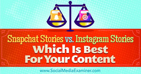 Snapchat-Geschichten gegen Instagram-Geschichten