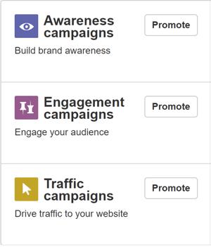 Arten von Kampagnen