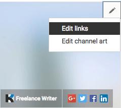Link zur YouTube-Website bearbeiten