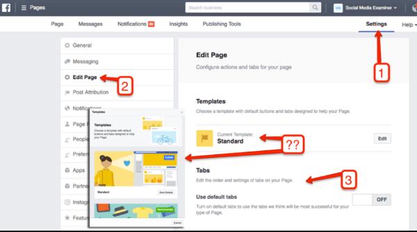 So ändern Sie Ihr Facebook-Seitenlayout mit Business Manager.