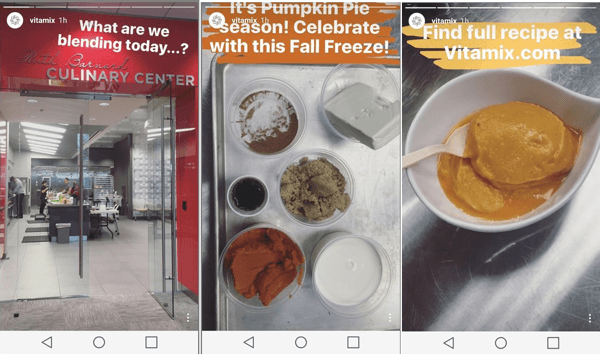 Instagram Geschichten Vitamix